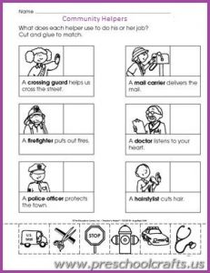 occupation worksheets for preschool