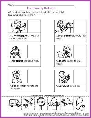 occupation worksheets for preschool - Preschool Crafts