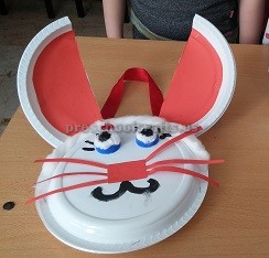 plastic plate craft to easter bunny