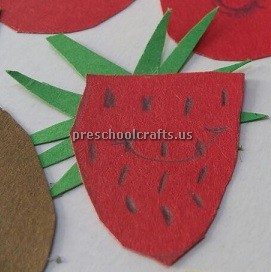 preschool craft ideas to strawberry