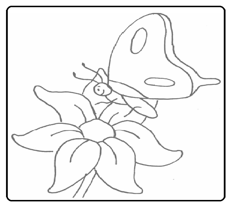 preschool free printable butterfly coloring pages to spring theme ...
