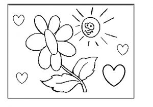 preschool printable coloring pages to spring theme