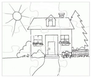 preschool puzzle coloring pages to spring theme