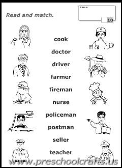 Occupation Worksheets For Kindergarten. Occupation. Best Free ...