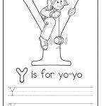 printable uppercase letter Y practice for preschooler
