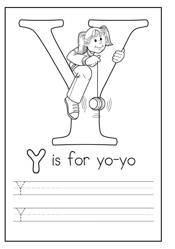 uppercase letter y worksheets free printable preschool and kindergarten. Black Bedroom Furniture Sets. Home Design Ideas