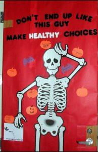skeleton bulletin board ideas for health week