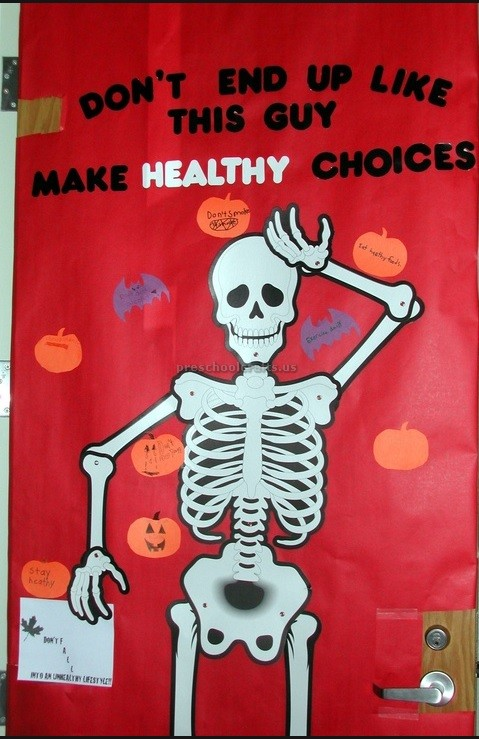 skeleton-bulletin-board-ideas-for-health-week Cut And Paste Skeleton Worksheet on shape matching, for kids, fall color, free printable preschool, farm animals, body parts,
