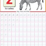 worksheet of small letter z is for zebra