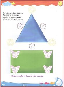 Corner and sides teaching worksheet for preschool and kindergarten