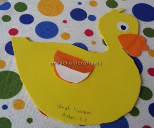 Duck craft idea for toddler