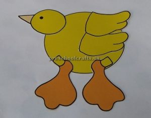 Duck craft ideas for preschool - Paper plate duck craft idea