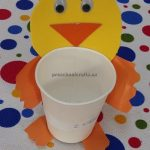 Duck craft ideas kindergarten - paper cup craft for preschool