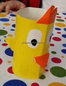 Duck craft ideas kindergarten - toilet roll paper craft for preschool