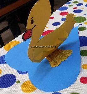 Duck in the sea craft for preschool and kindergarten