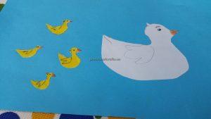 Duck in the sea craft ideas for preschool and kindergarten
