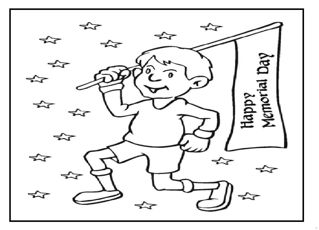 Memorial Day Coloring Pages for Kids Preschool and
