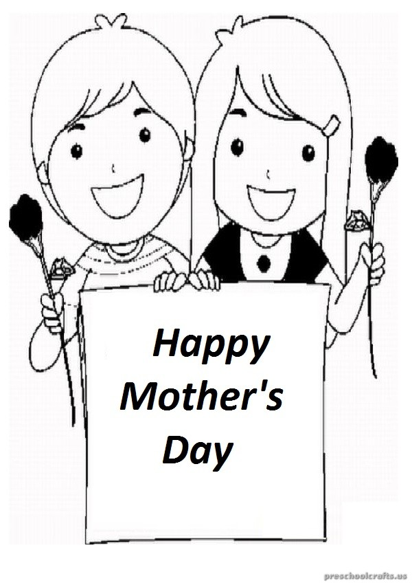 free printable mothers day coloring page download for preschooler - Free Printable Mothers Day Coloring Pages
