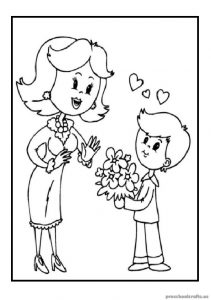 Free Printable Mother's Day coloring pages download