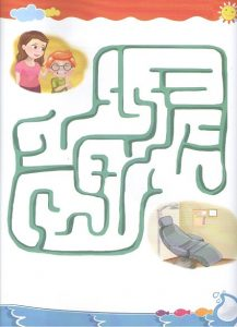 Free Printable colored maze worksheet for preschool