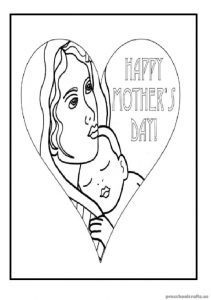 Free Printables Mother's Day Coloring Pages for Preschoolers