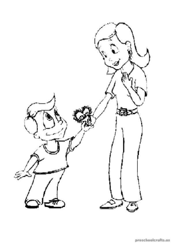 free printables mothers day coloring pages for toddler
