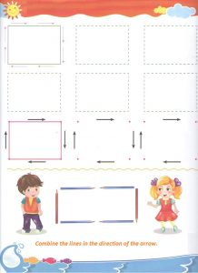 Free printable tracing shapes worksheet for preschool and kindergarten
