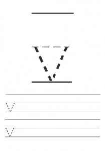 Free printables lowercase letter v worksheet