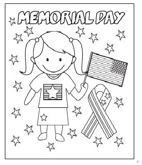 Happy memorial day coloring pages for firstgrade for Memorial day coloring pages for kids