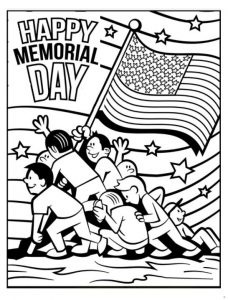 Happy Memorial Day coloring pages for preschool