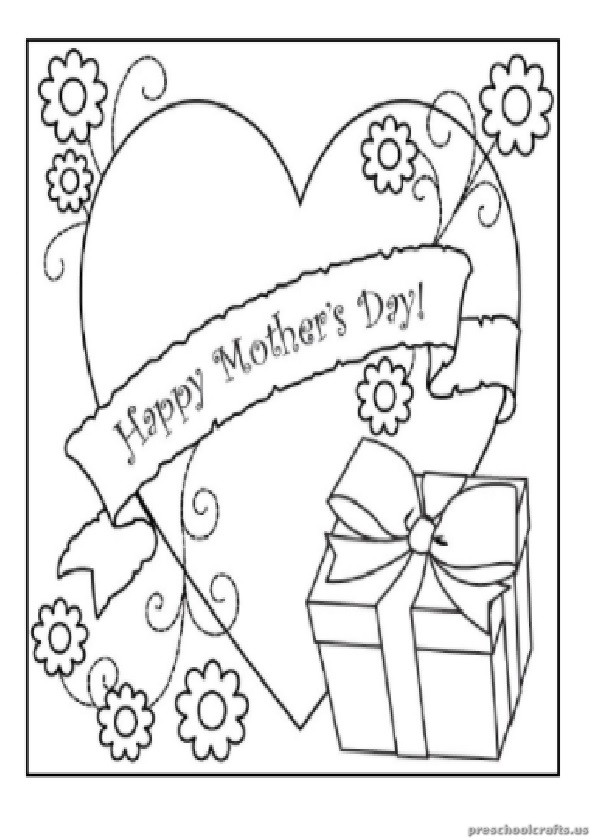 Kindergarten Mother 39 s Day Coloring Pages Free Printables
