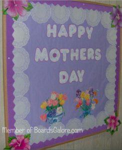 Kindergarten bulletin board ideas to mothers day