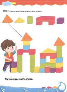 Match the shapes worksheet for preschool