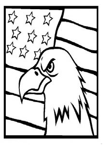 Memorial Day Coloring Pages for Preschool - Eagle Coloring Pages for Kindergarten