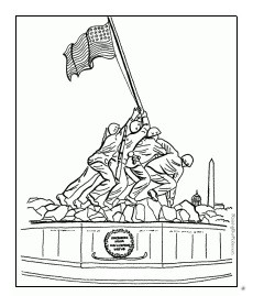Memorial Day Flag Coloring Pages for Kindergarten