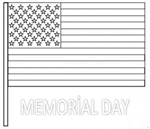 Memorial Day Flag Coloring Pages for Preschool