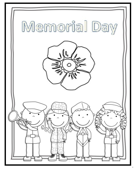 Memorial day flag coloring pages for preschooler for Memorial day coloring pages for kids