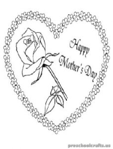 Mother's Day Coloring Pages for 1'st Grade
