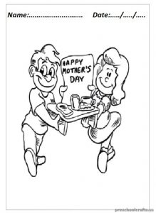 Mother's Day Coloring Pages for Kindergarten