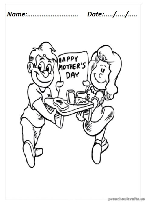 mothers day coloring pages for preschool - mother 39 s day coloring pages for kindergarten preschool