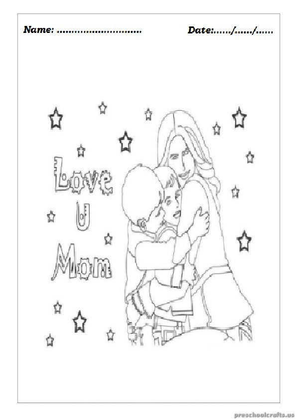 Mother 39 s Day Coloring Pages for Preschool Preschool Crafts