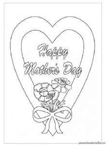 Mother's Day Coloring Pages for Primary School