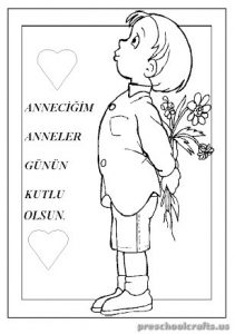Mother's Day Free Printables Coloring Pages for Kindergarten