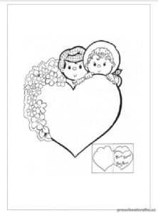 Mother's Day Heart Coloring Pages for Preschool