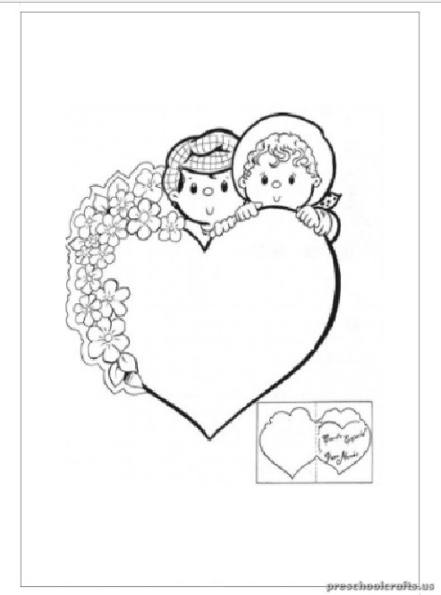 Heart Coloring Pages For Kindergarten : Preschool valentine coloring pages heart
