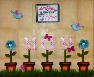 Mother's day flowers themed bulletin board ideas for kindergarten