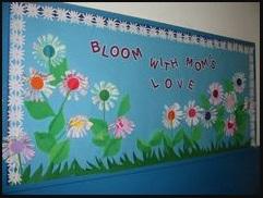 Mother's day flowers themed bulletin board ideas for preschool