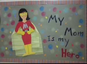 Mother's day super mom themed bulletin board ideas for kindergarten
