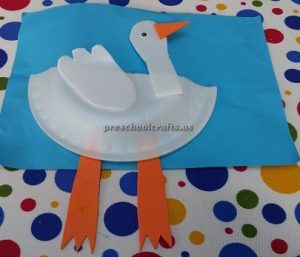 Paper plate duck craft ideas for preschool and kindergarten