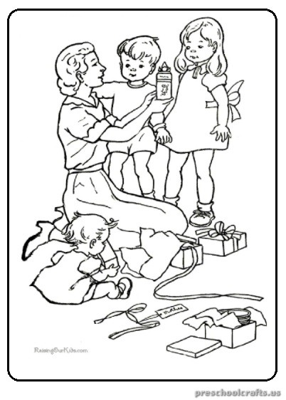 Preschool Mother 39 s Day Coloring Pages Free Printable